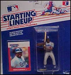 1988  FRANKLIN STUBBS Kenner Starting Lineup Card Los Angeles Dodgers